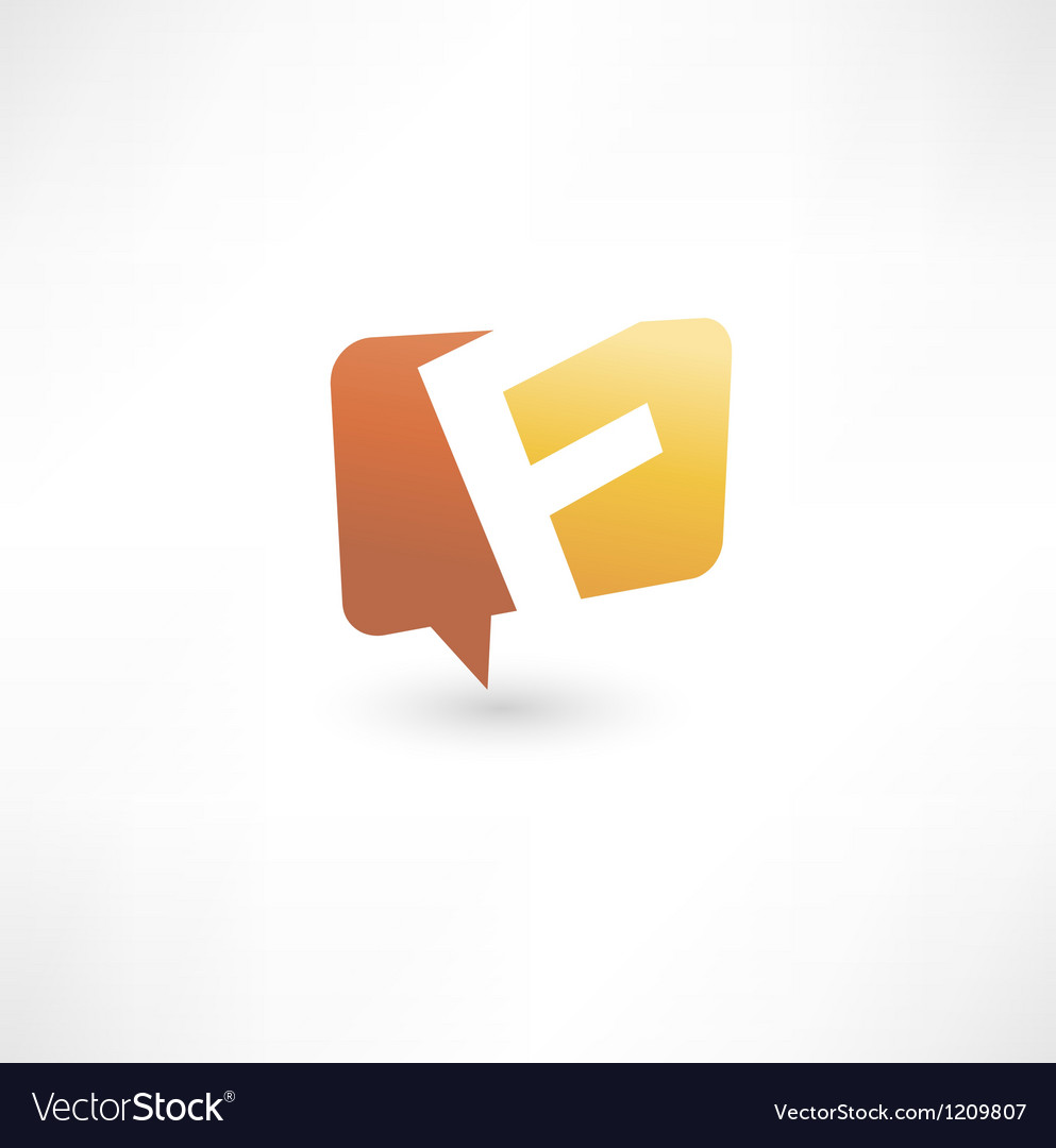 Abstract bubble icon based on the letter f vector