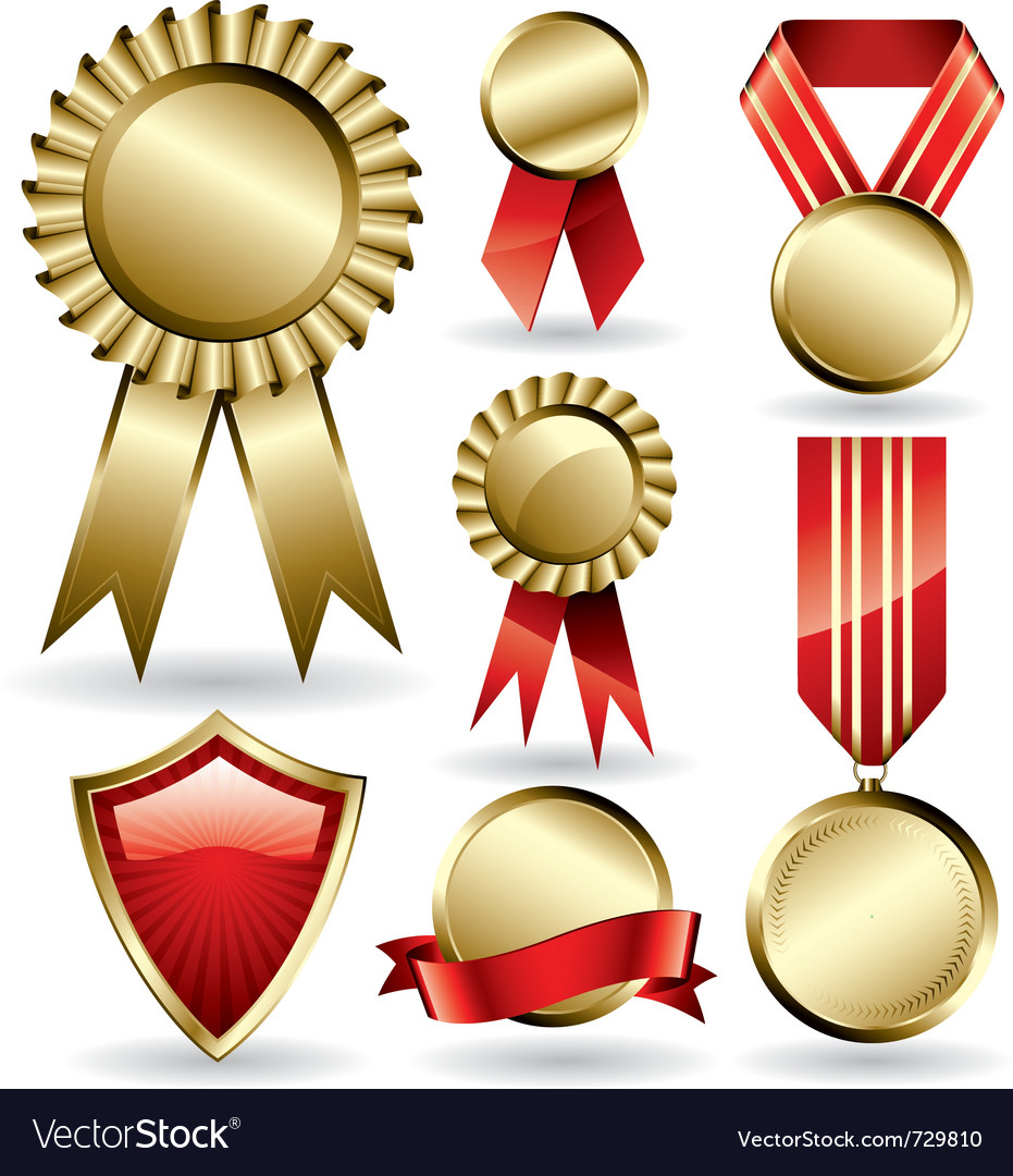 Award ribbons set vector