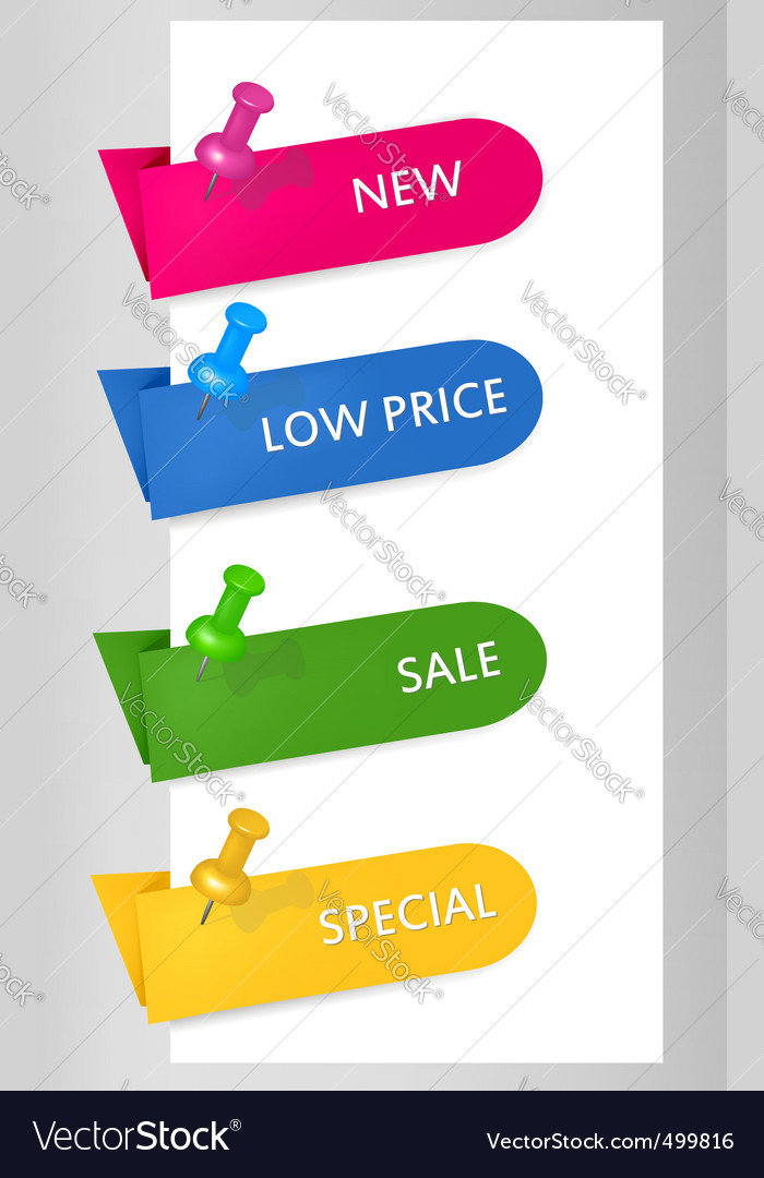 Origami banners vector