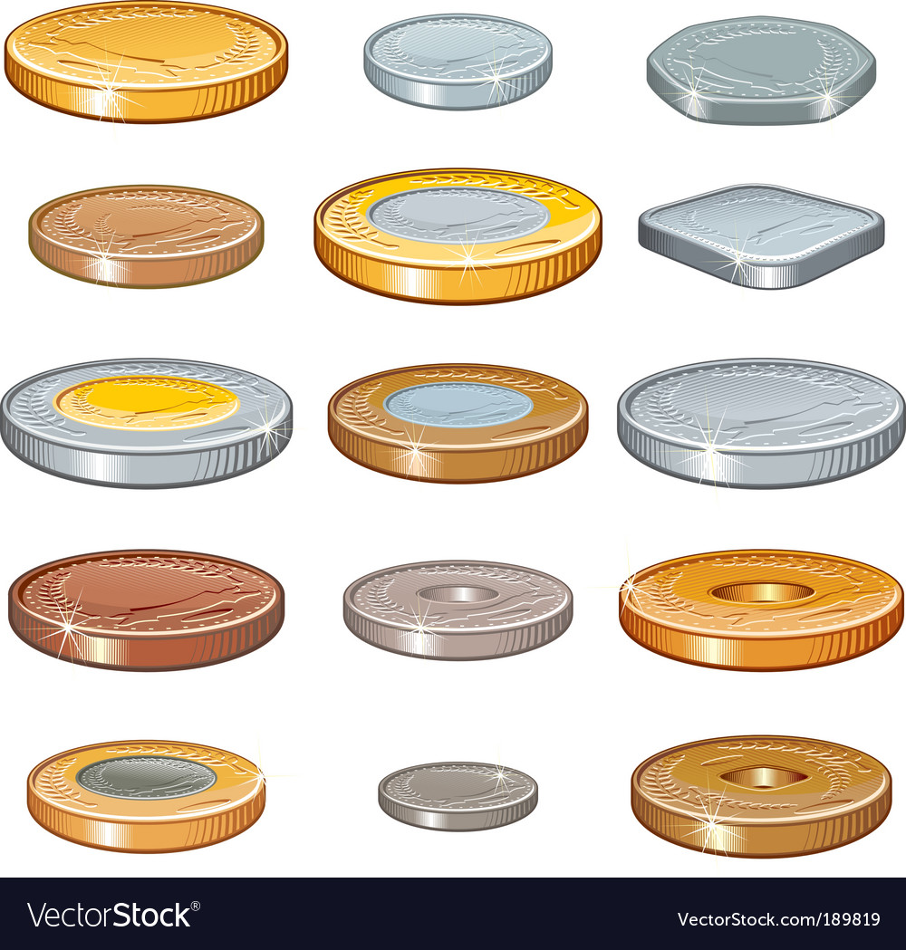 Numismatic coins vector