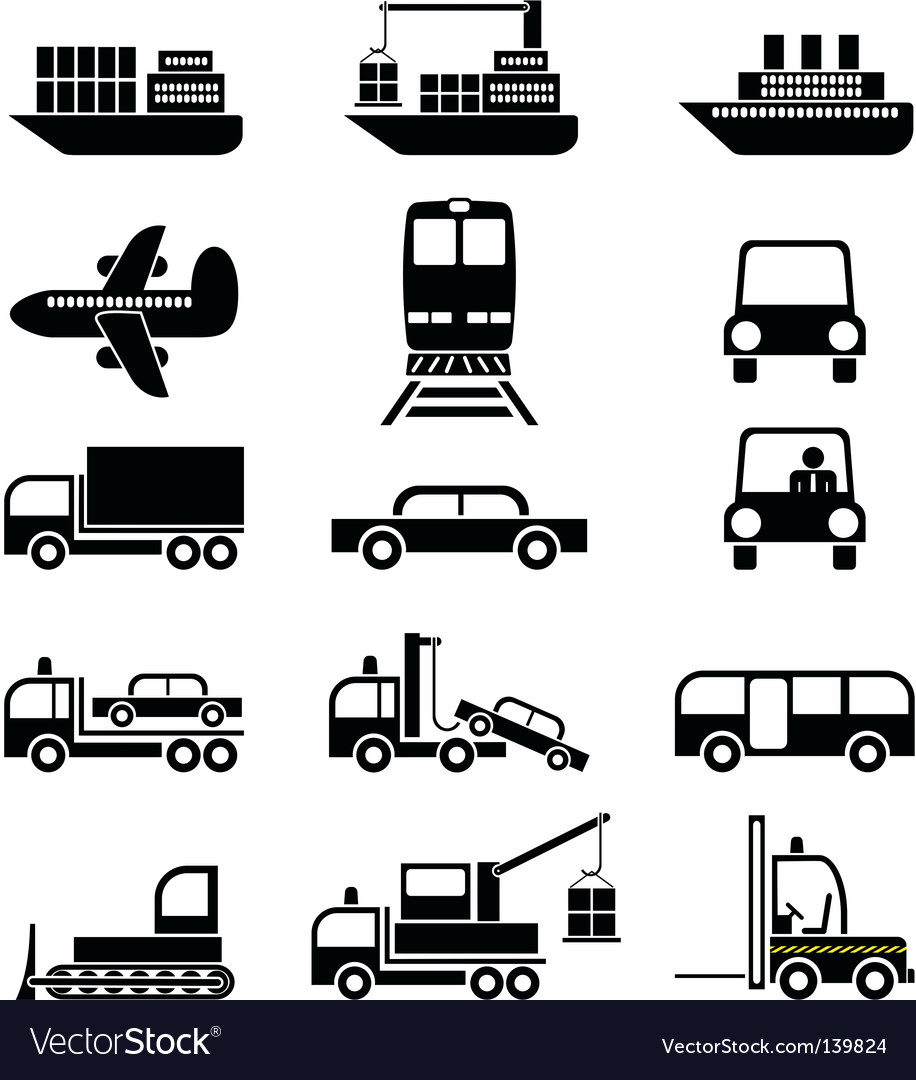 Transport and vehicles vector