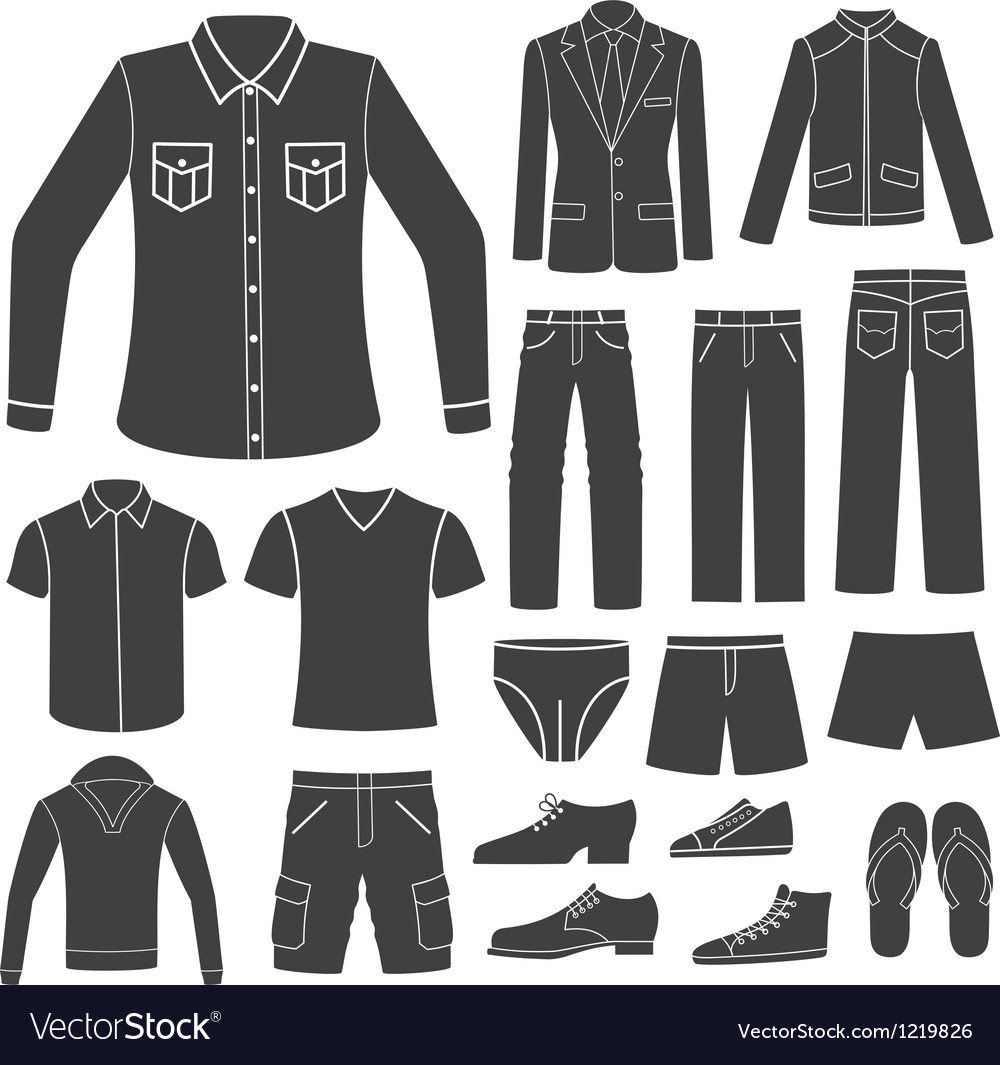 Set of men s clothing vector