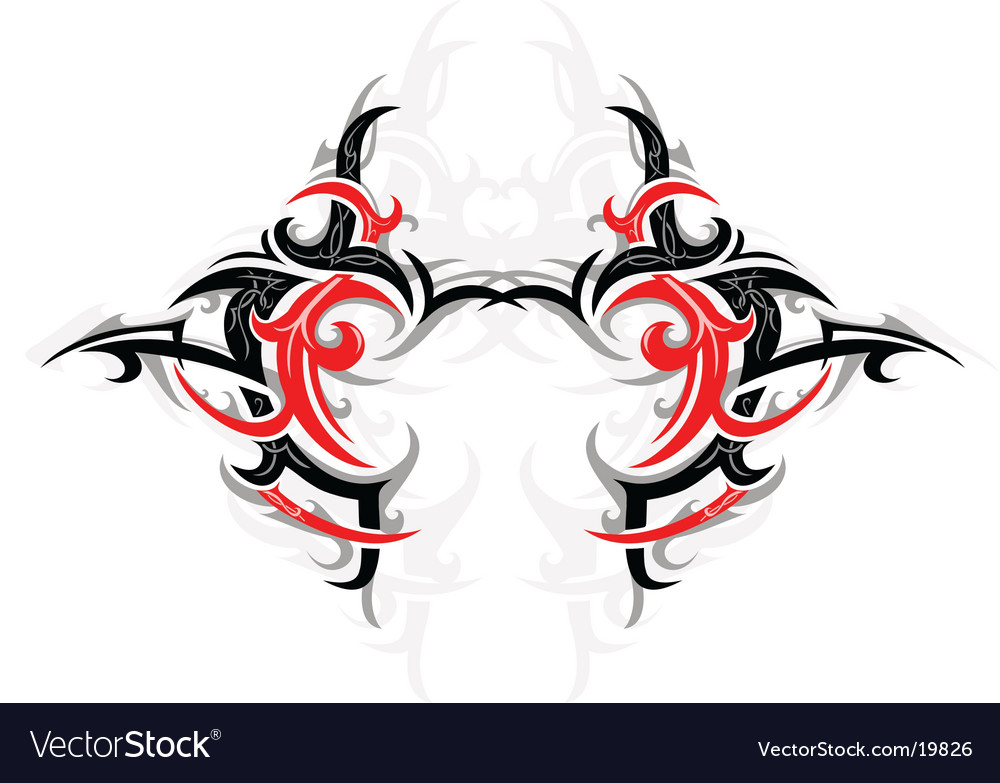 Tribal design element vector