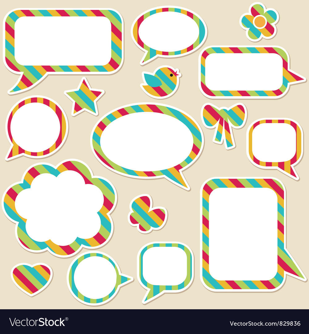 Free speech bubbles vector