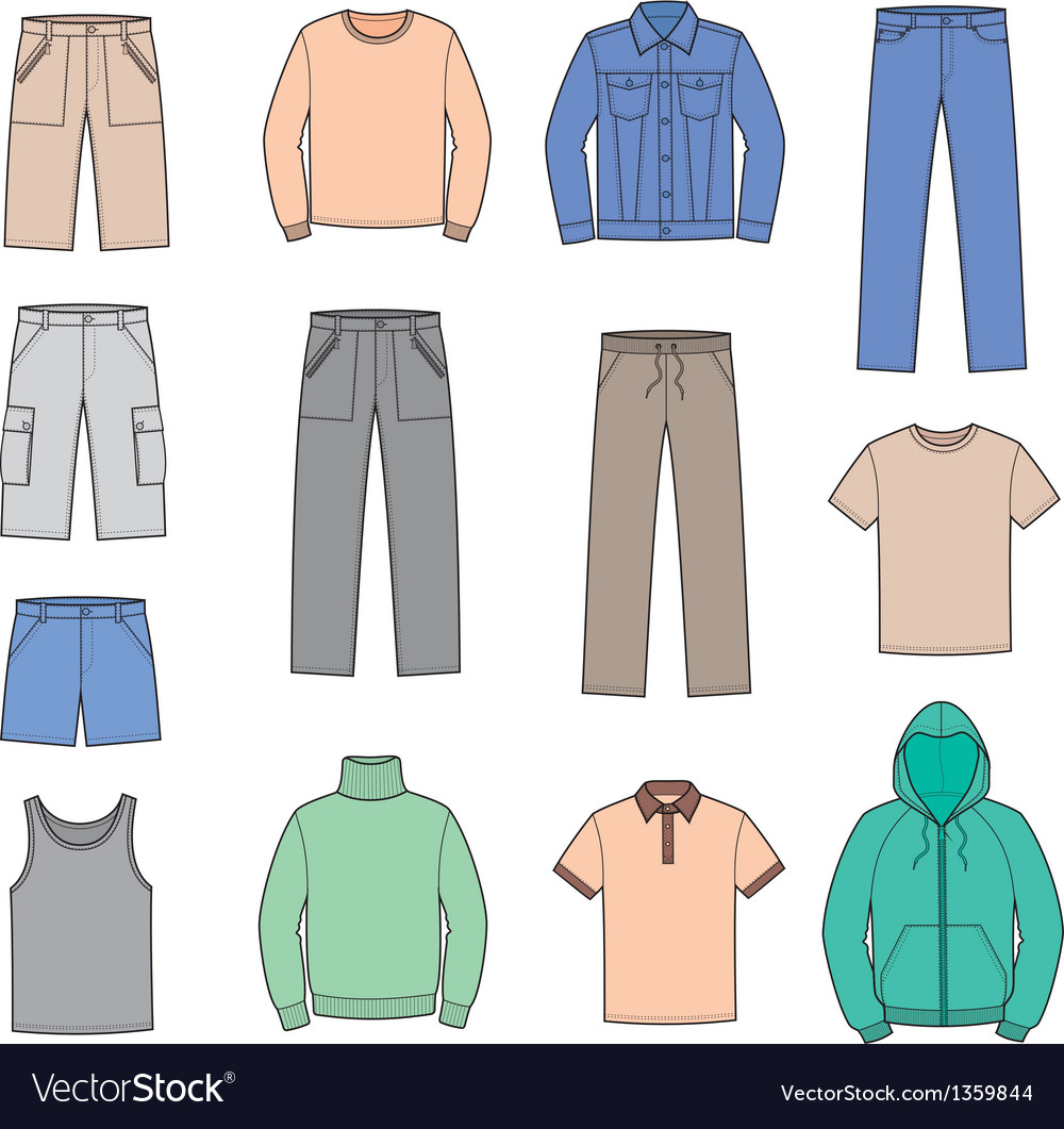 Casual clothes vector