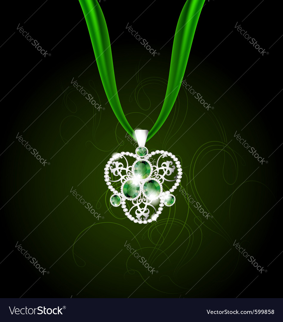 Jewelry pendant vector