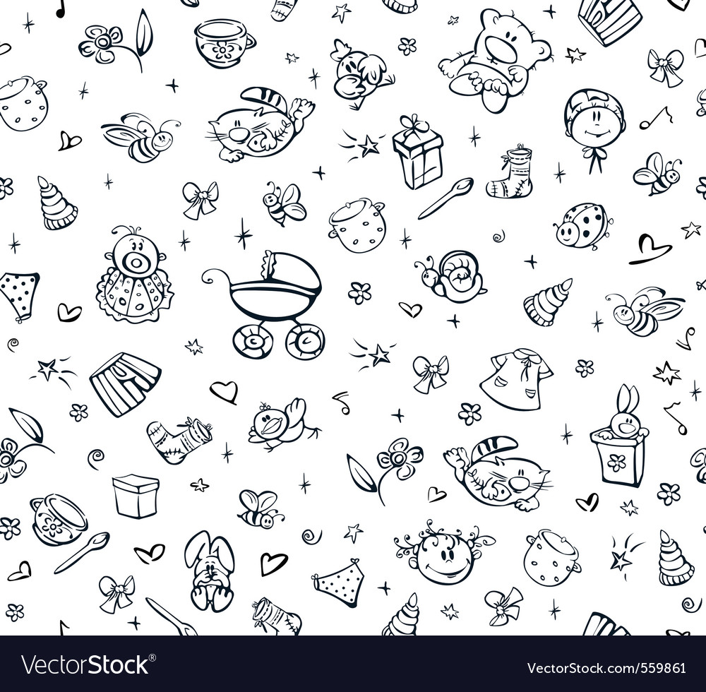 Baby pattern vector
