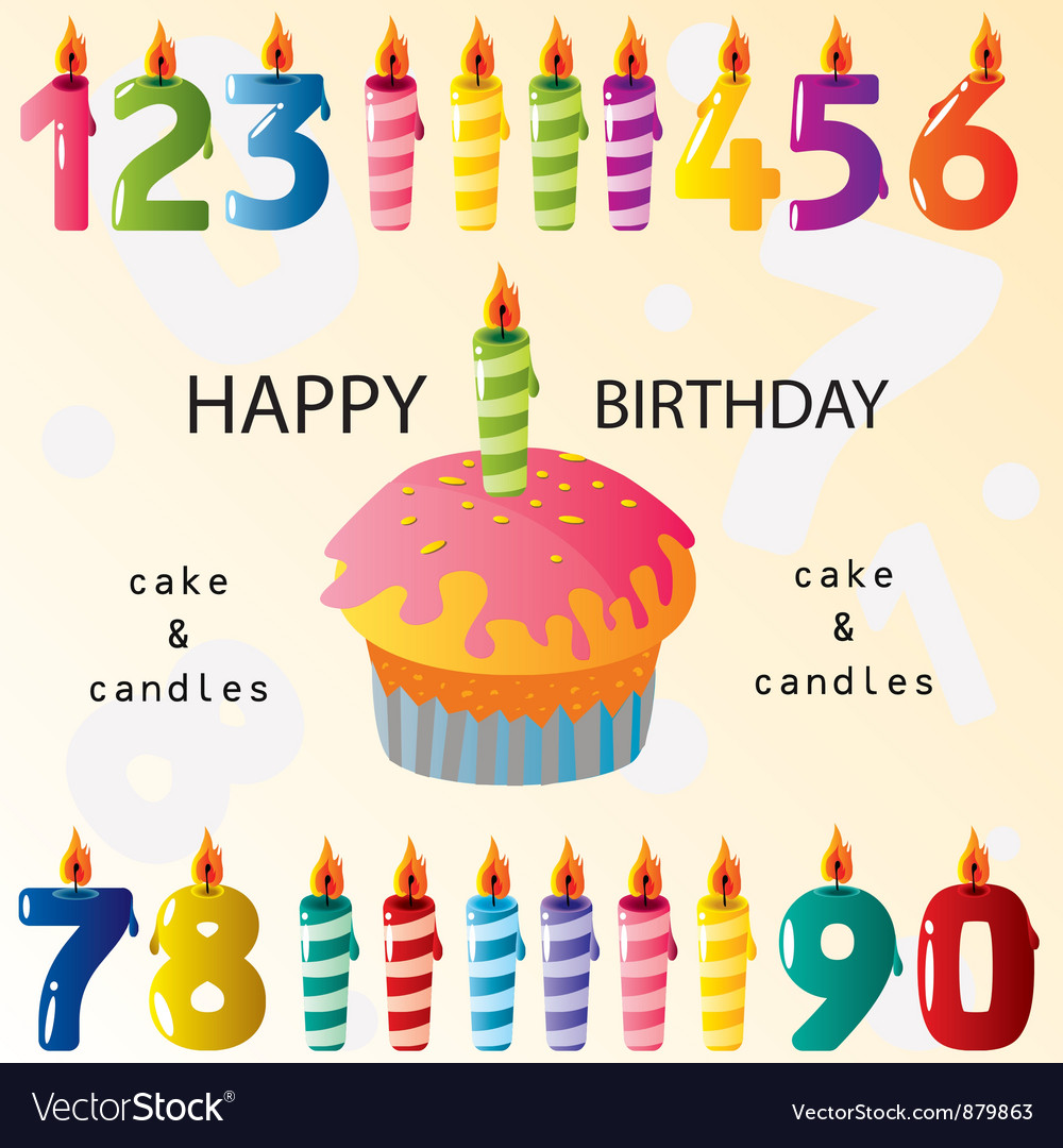 Birthday elements vector