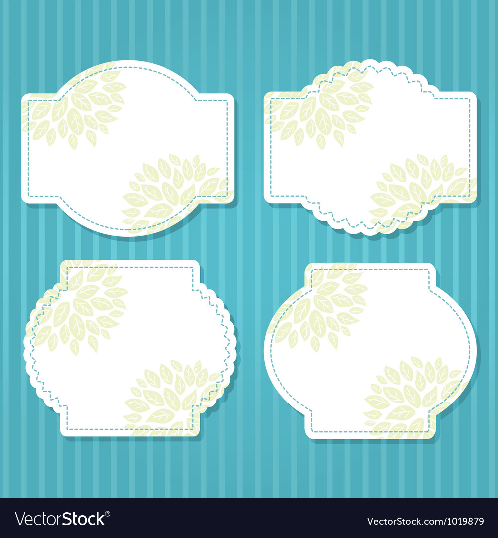 Cute vintage frame vector