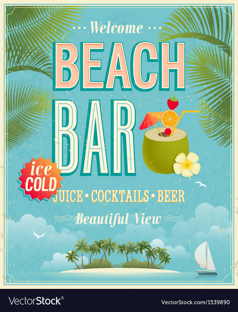 Beach bar vector