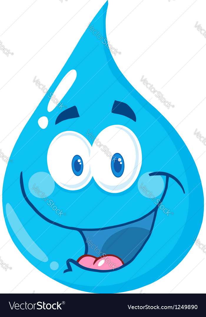 Water drop cartoon character vector