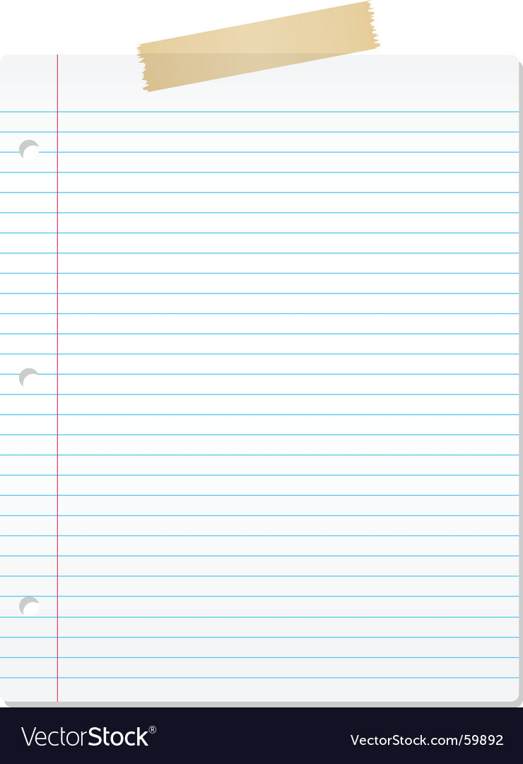 Lined paper image