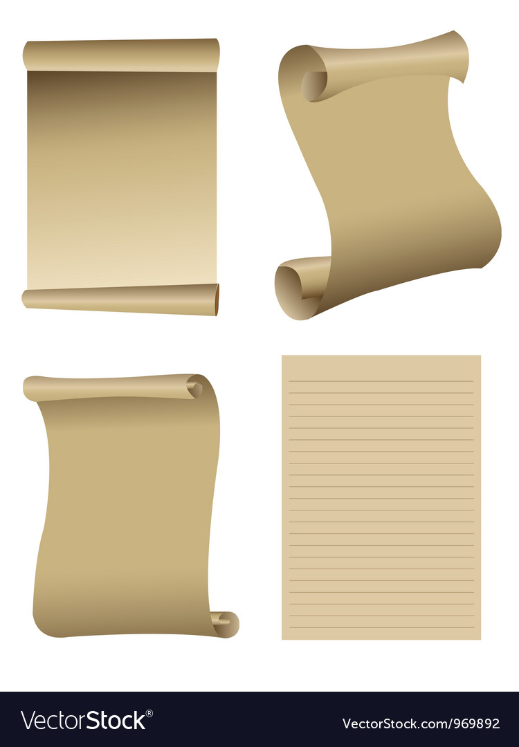 Old paper set vector