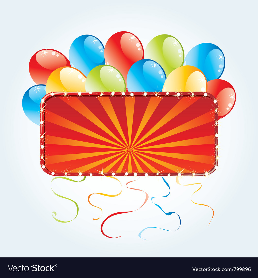 Billboard with balloons vector