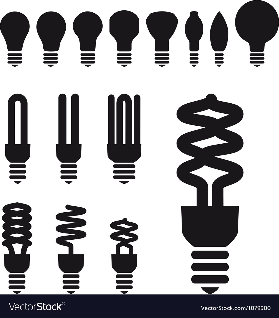 Set of energy saving bulbs vector