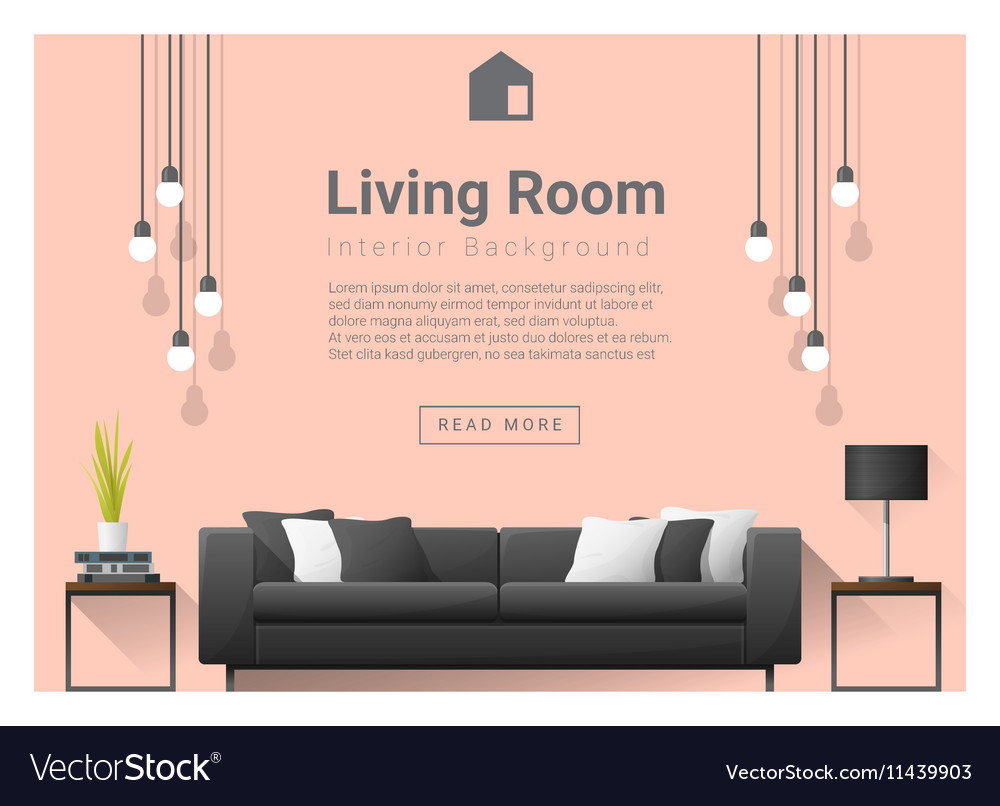 Modern Living Room Interior Background 6 Vector By