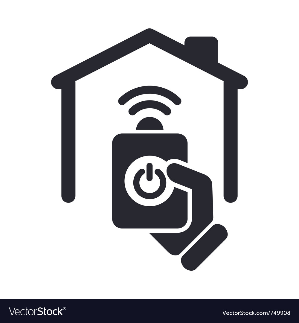 Remote home icon vector