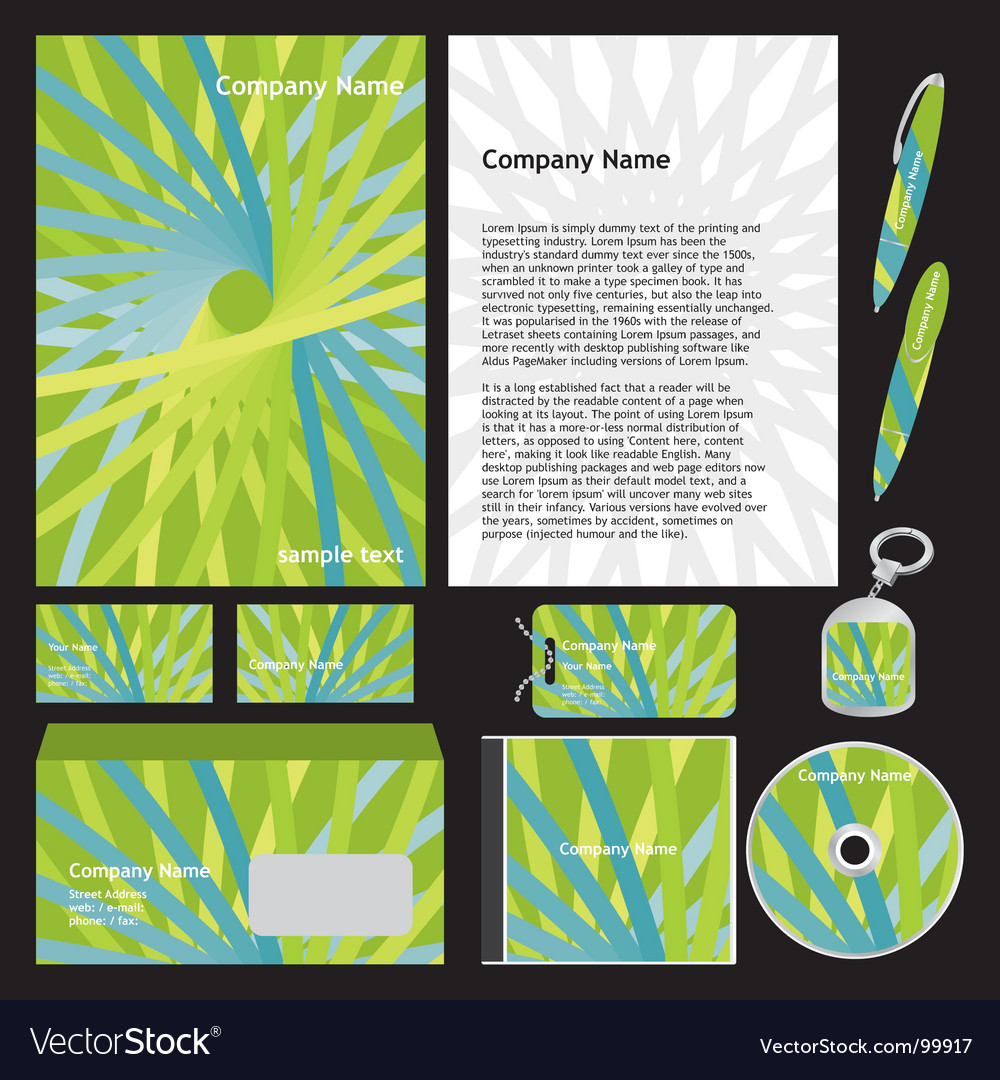 Company stationery templates vector