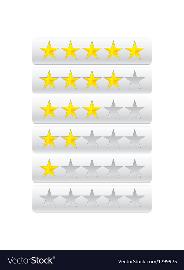 Rating stars isolated on gray vector