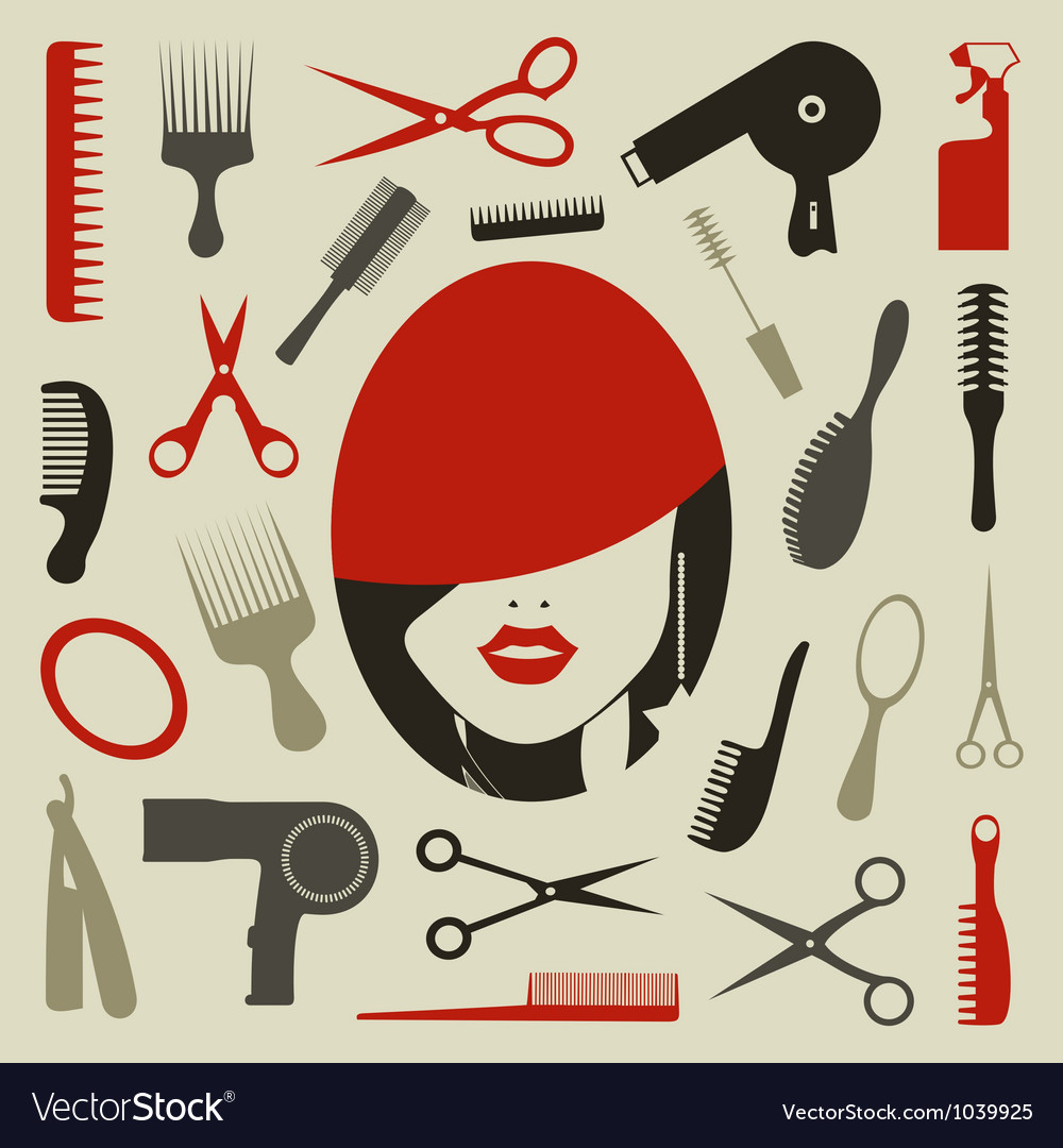 Hairstyle an icon vector