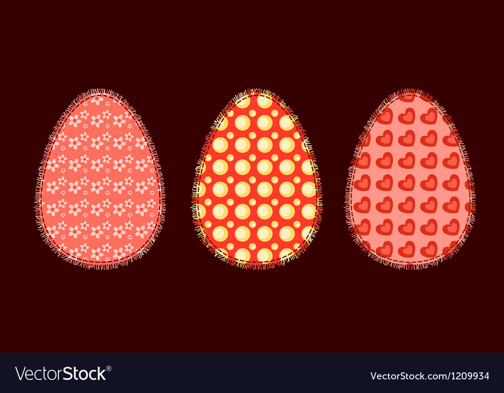 Three easter eggs 2 vector
