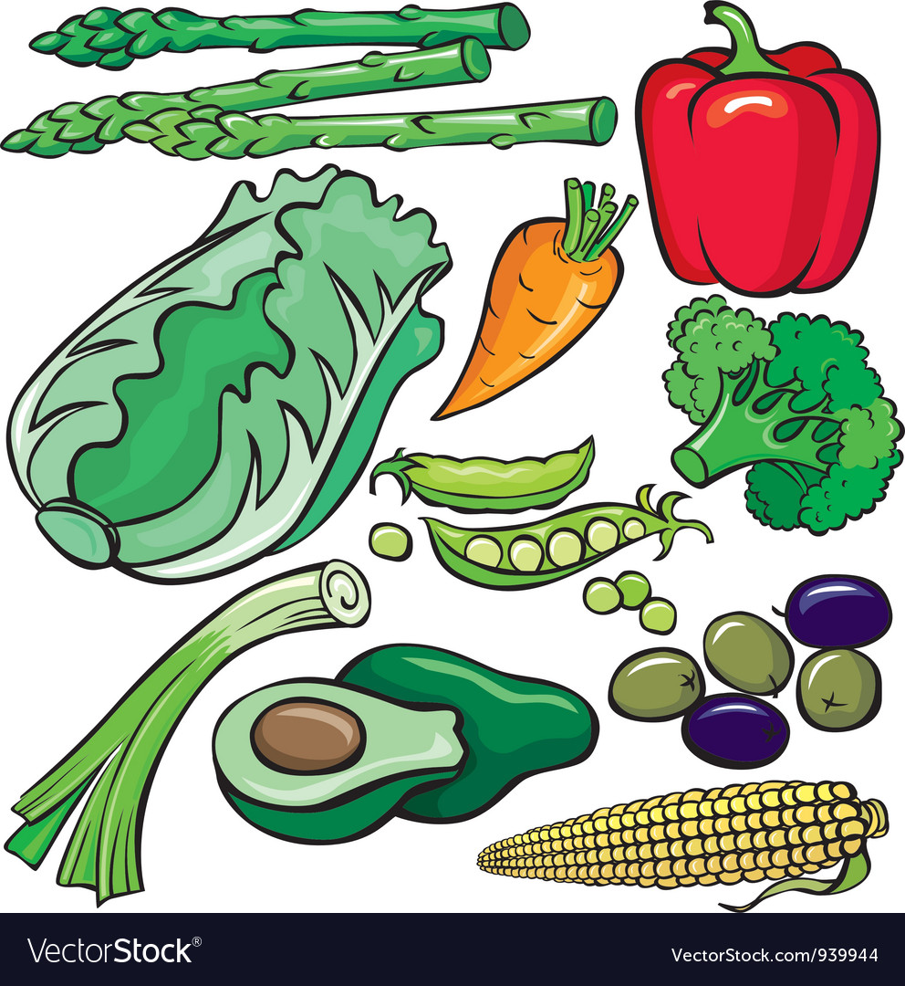 Diet products icon set vector