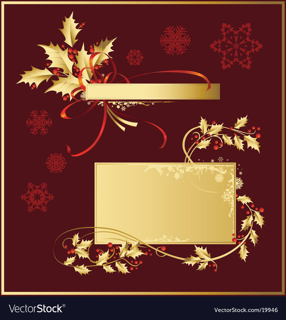 Set of christmas decoration vector
