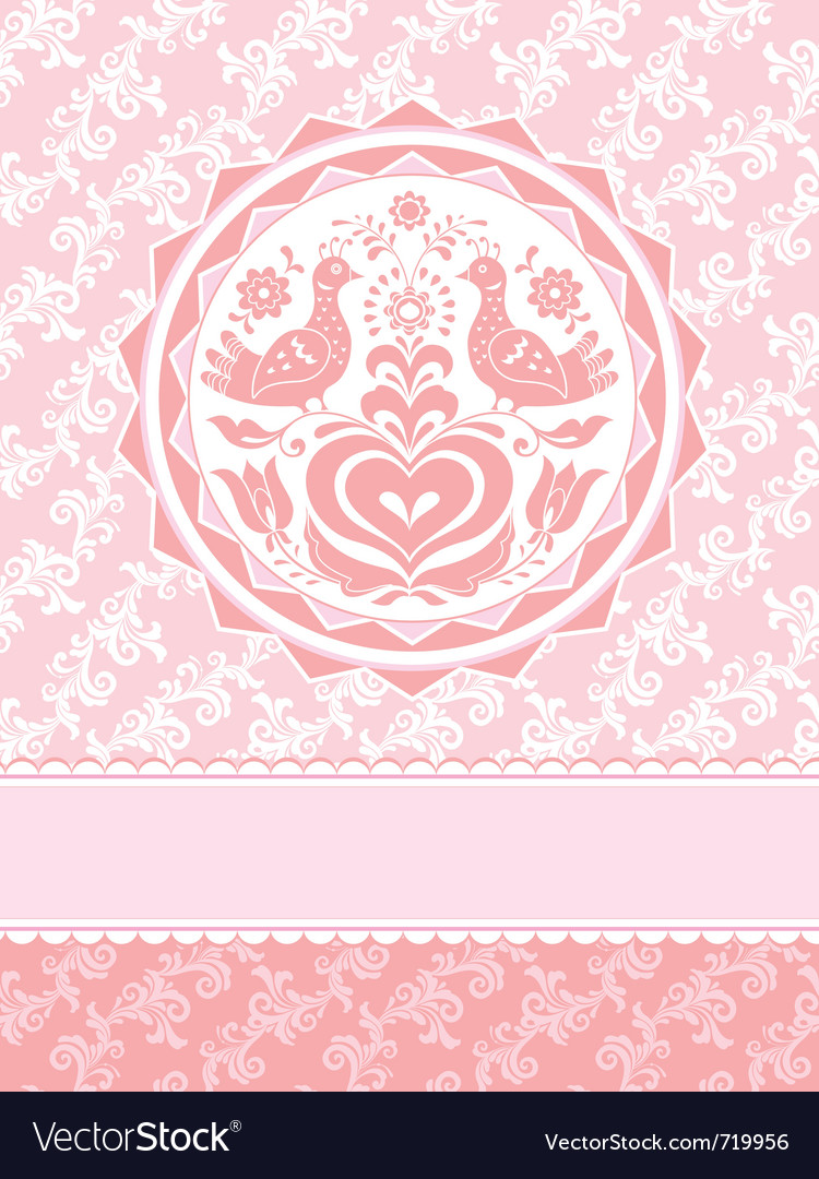 Decorative greeting card vector