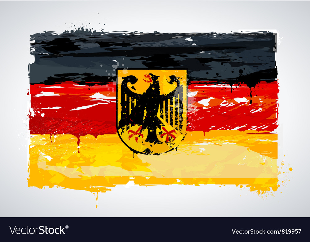 Grunge germany national flag vector