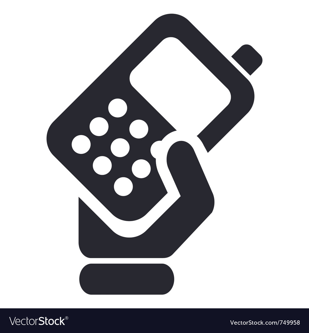 Phone handing icon vector