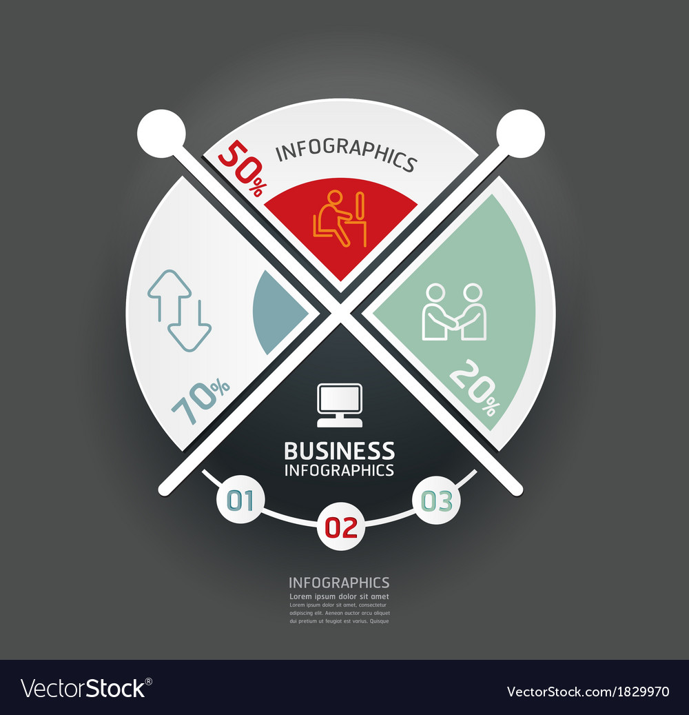 Design circle minimal style infographic template vector by ...