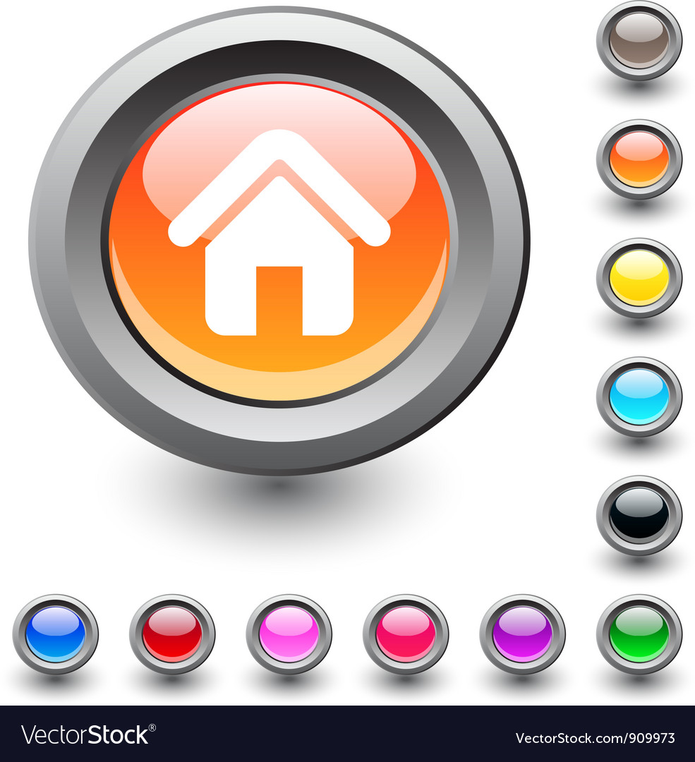 Home round button vector