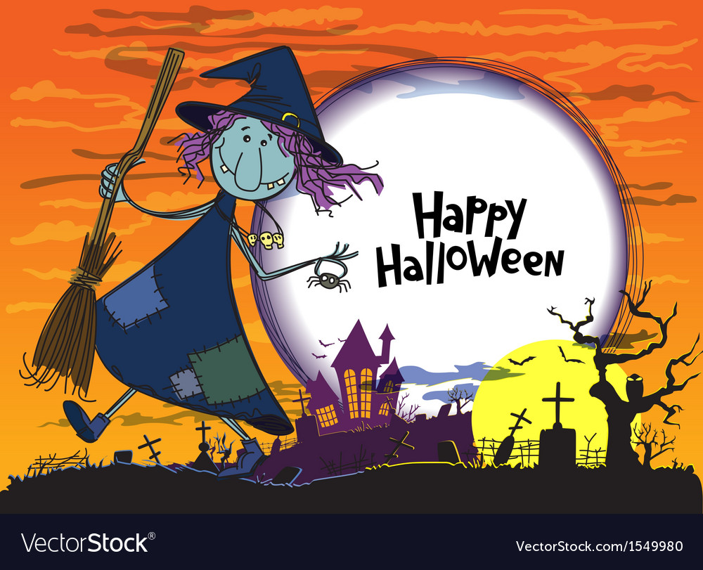 Halloween greeting vector