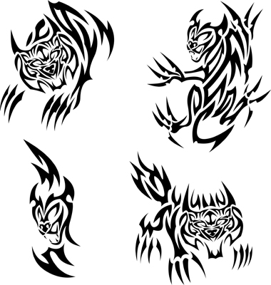 Tattoo Big Cats Vector. Artist: Bastetamon; File type: Vector EPS