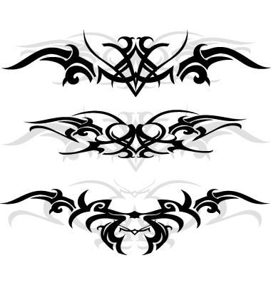 Tribal Tattoo Designs Vector. Artist: AKV; File type: Vector EPS