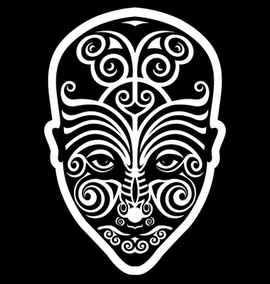 Maori Face Tattoo Vector. Artist: alekup; File type: Vector EPS