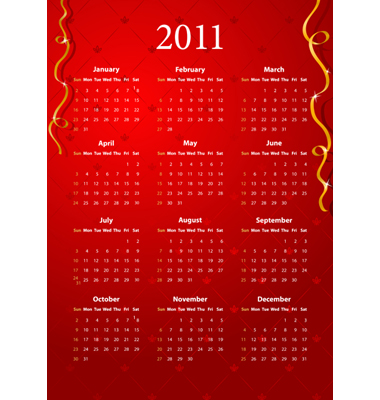 2011 calendar red. Red Calendar 2011 Vector. Artist: Elisanth; File type: Vector EPS