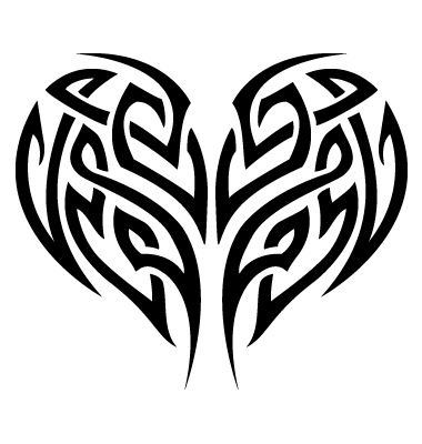 Tribal Tattoo Heart Vector. Artist: digitalN; File type: Vector EPS
