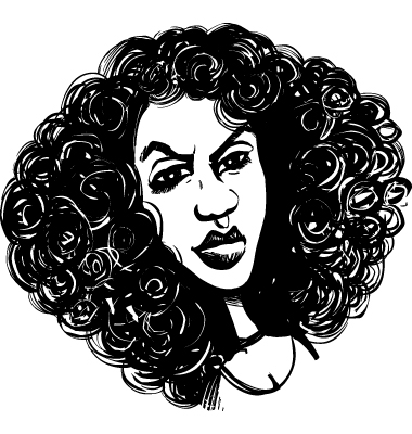 Woman With Curly Hair Vector. Artist: Igor_Zakowski; File type: Vector EPS