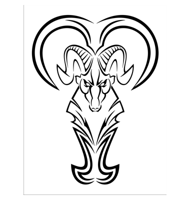 Aries Tattoo Vector. Artist: Alexey71; File type: Vector EPS