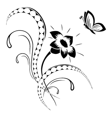 Flower Pattern Tattoo Vector. Artist: MariStep; File type: Vector EPS