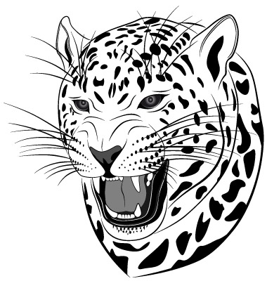 Leopard Tattoo Vector. Artist: flanker-d; File type: Vector EPS