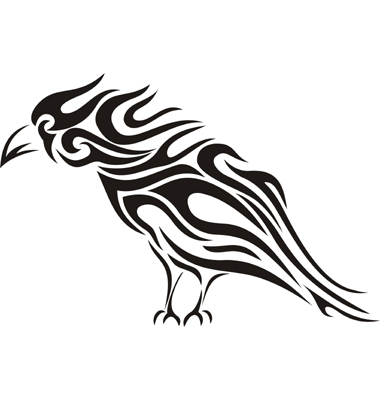Raven Tribal Tattoo Vector. Artist: kaetana; File type: Vector EPS