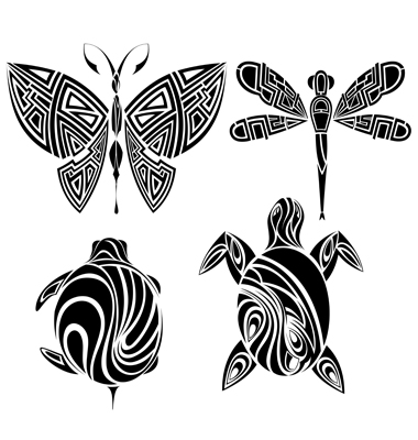 (tattoo design butterfly ) scroll tattoo font