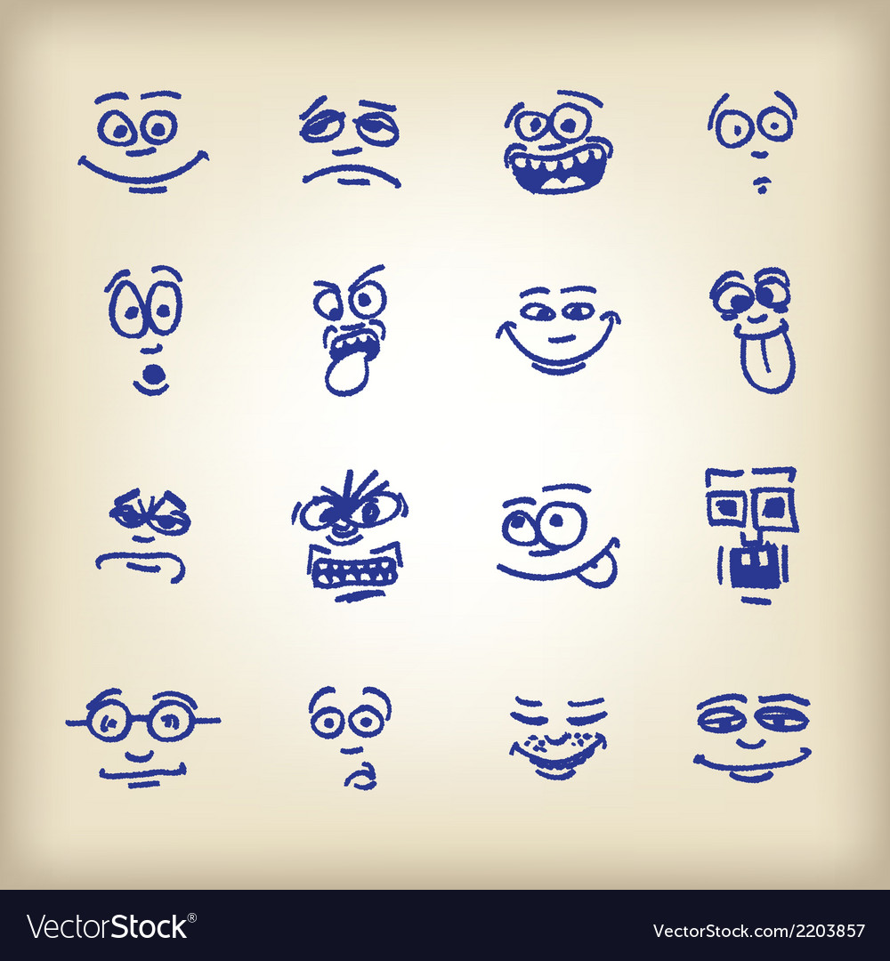 Emoticons-vector