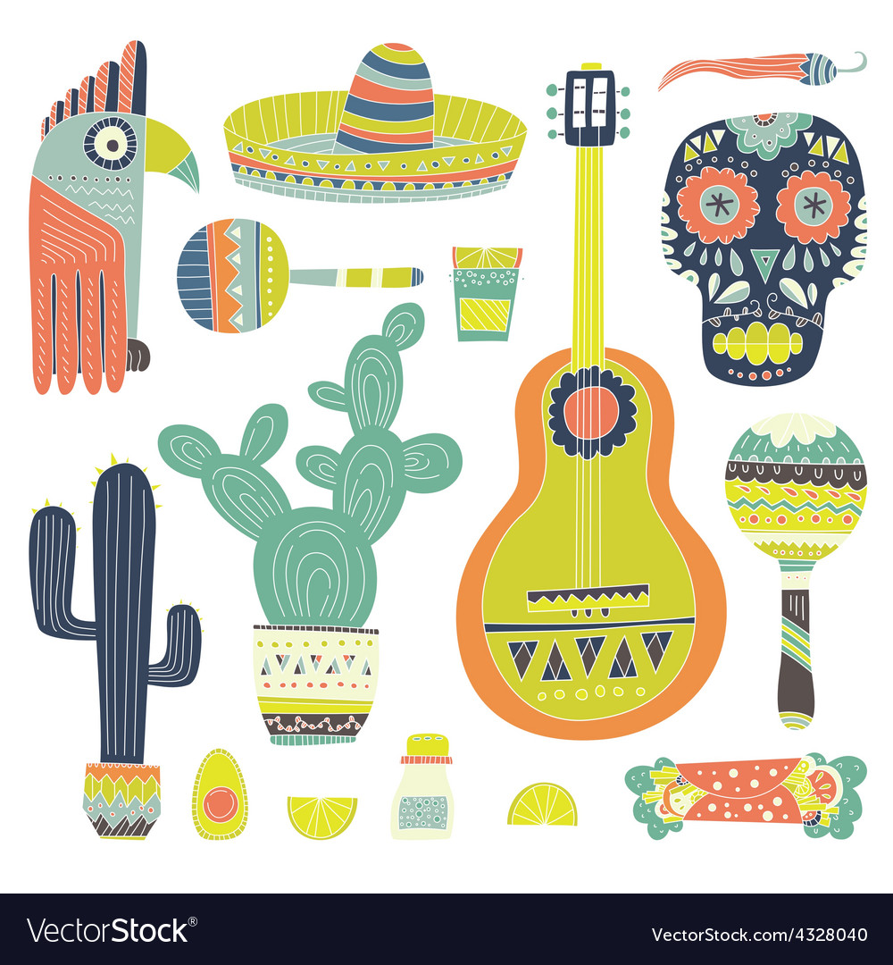 Mexican-elements-vector