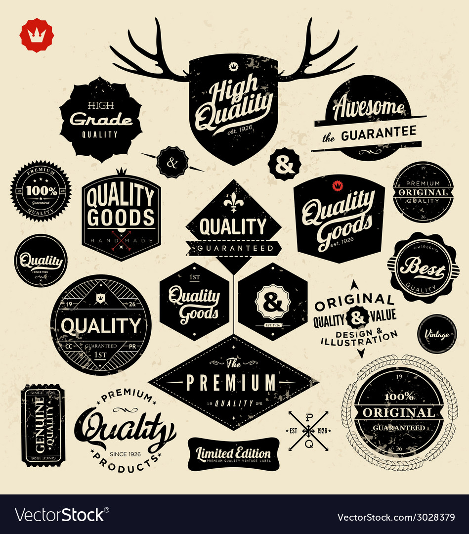 Premium-and-high-quality-labels-vector