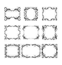 Set of frames with decorative graphic elements vector