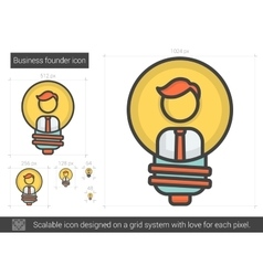 Business founder line icon vector