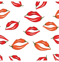 Woman lips as pepper vector image